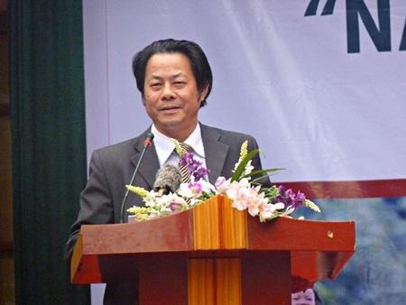 Ông Hoàng Văn Minh - Phó Tổng Biên tập Thời báo Ngân hàng phát biểu tại chương trình.