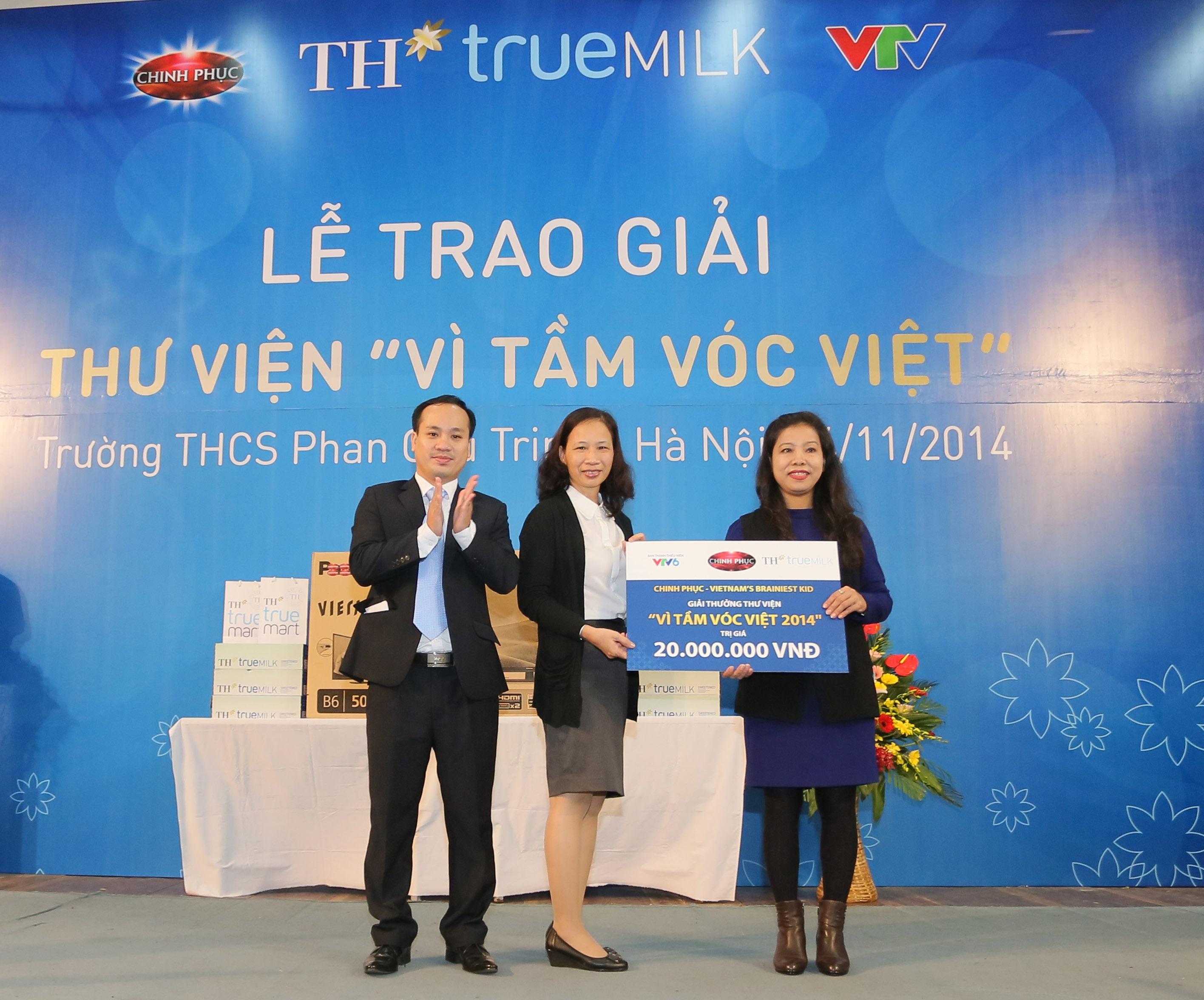Trường THCS Phan Chu Trinh - Hà Nội nhận giải thư viện Vì Tầm Vóc Việt