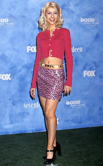 Christina Aguilera cực kỳ thanh mảnh khi mới vào nghề ca sỹ (năm 1999)