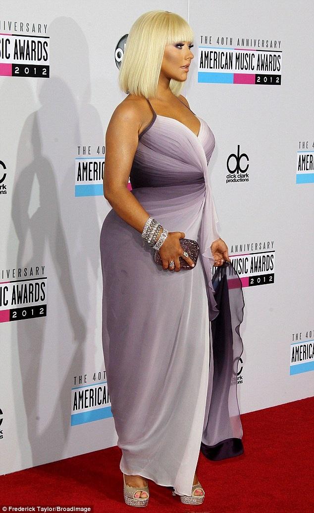 Đỉnh cao của thời kỳ mà Christina Aguilera tăng cân rất nhanh