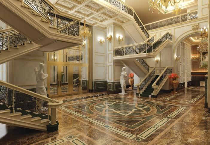 Phong cách kiến trúc được thiết kế giống cung điện Versailles