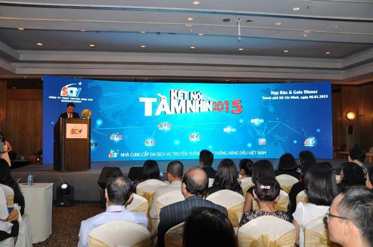 Ông Trần Văn Úy - TGĐ SCTV công bố hàng loạt đổi mới của SCTV trong họp báo