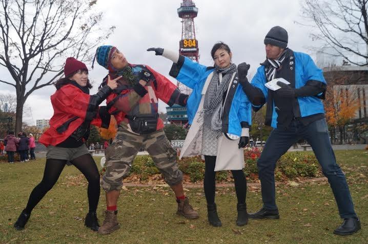 """Lan Phương xinh đẹp """"hẹn hò"""" hotboy Linh Sơn tại Nhật Bản"""