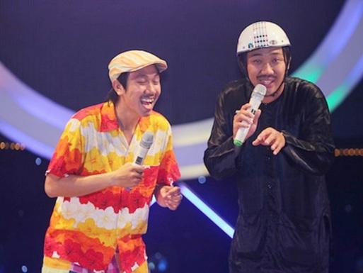 Trấn Thành (bên phải) là nghệ sỹ hài ăn khách hiện nay