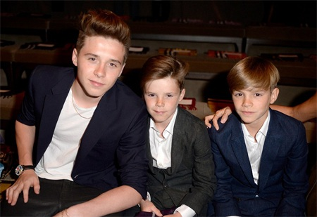 Ba cậu con trai nhà Beckham - Brooklyn, Cruz, Romeo
