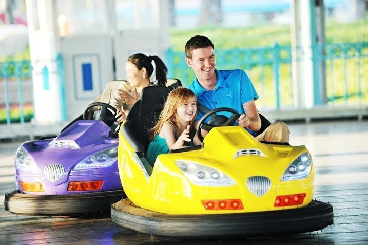 Xe điện đụng…trò chơi mà các bé vô cùng yêu thích.