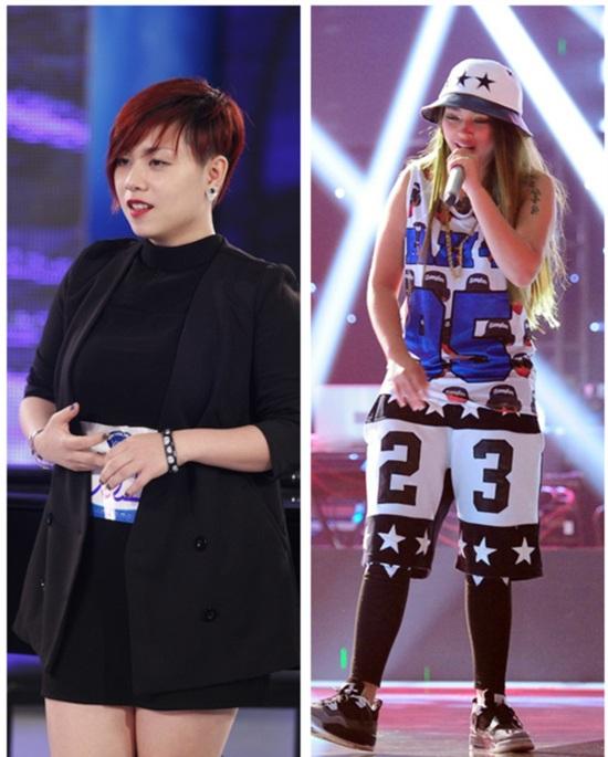 Hai ca sĩ thi hát của hai cuộc thi hot nhất hiện nay