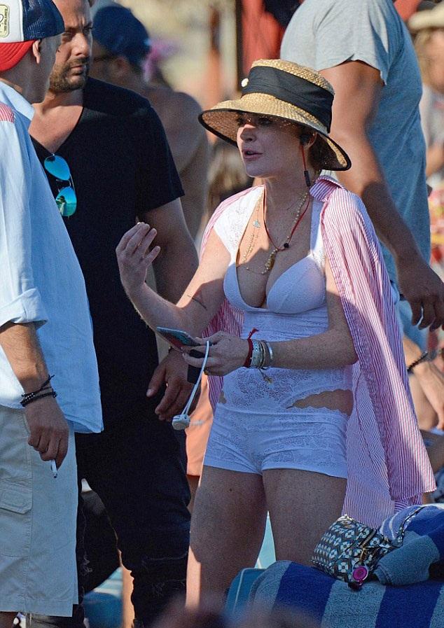 Những hình ảnh sexy và thân thiện của Lindsay Lohan ở