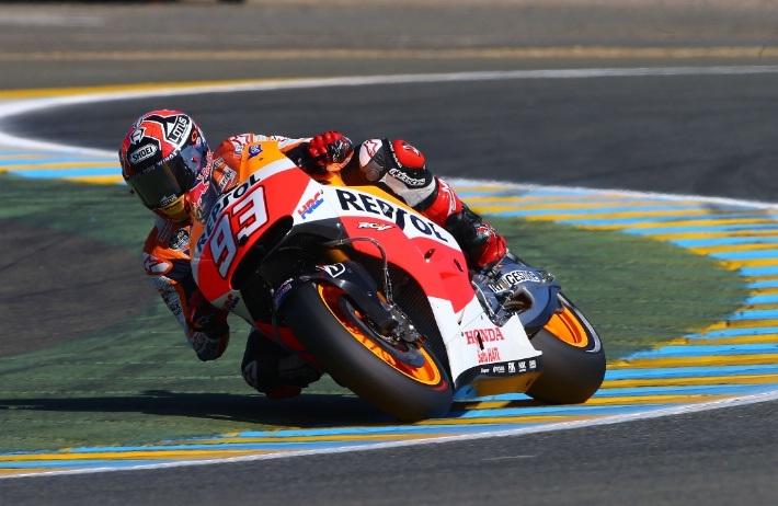 Marquez bị trượt ra khỏi đường đua