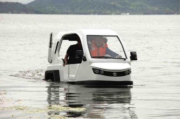 Xe Salamander đã chạy thử ở nhiều môi trường nước khắc nghiệt