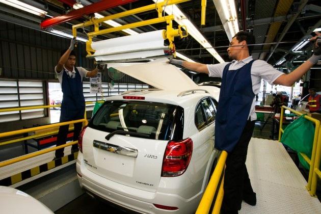 Dây chuyền lắp ráp xe SUV của GM tại Thái Lan