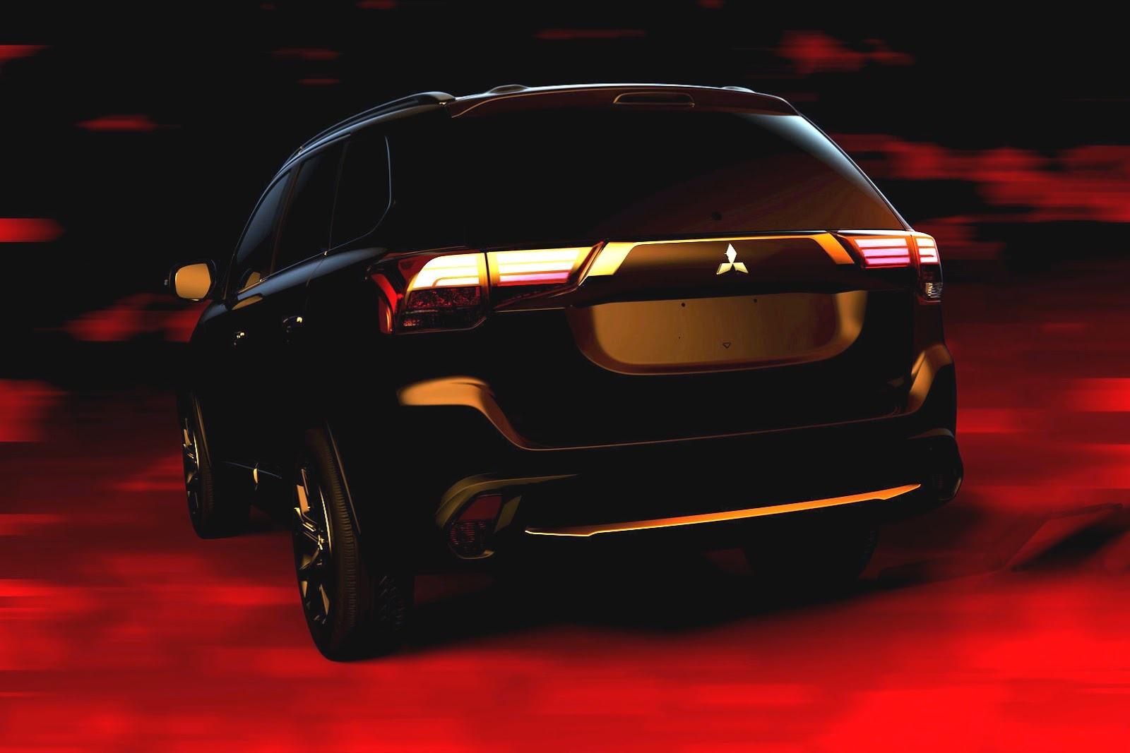 Hình ảnh đầu tiên của Mitsubishi Outlander phiên bản mới