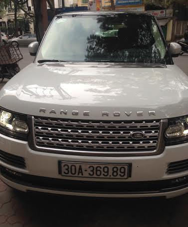 Chiếc xe Range Rover màu trắng (Ảnh: CTV)
