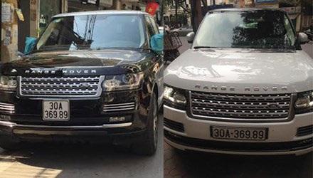 Hai chiếc xe mang biển số giống hệt nhau. (Ảnh: CTV)