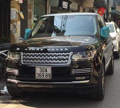 Chiếc Range Rover màu đen (Ảnh: CTV)