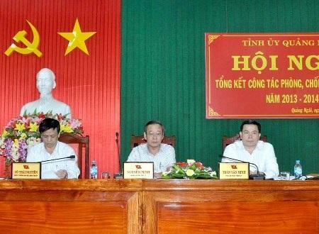 Tỉnh ủy Quảng Ngãi quyết tâm phòng, chống tham nhũng toàn diện.