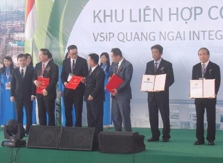 Mặc dù mới hình thành nhưng VSIP Quảng Ngãi đã thu hút 9 nhà đầu tư cho KKT Dung Quất
