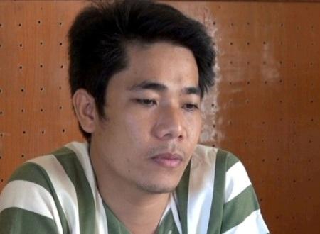 Đối tượng Quang bị bắt giam sau chuỗi ngày ẩn nấp ở nhiều địa phương về tội lưu hành tiền giả.