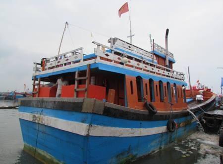 Ngư dân Ba tử nạn sau chuyến biển cuối năm trên chiếc tàu này.