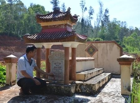 Doanh nghiệp đào đất, phần mộ chí sĩ yêu nước có nguy cơ biến mất