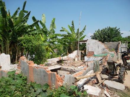 Ngôi nhà của ông Quý chỉ còn đống đổ nát sau ngày cưỡng chế.