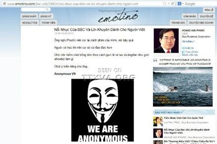 Chủ đề Tứ đại ngu nhằm vào ông Dương Trung Quốc bị hacker tấn công?