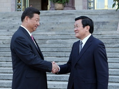 Chủ tịch nước Trung Quốc Tập Cận Bình tiếp Chủ tịch nước Trương Tấn Sang