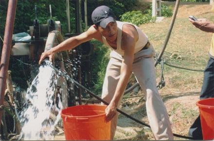 Tại điểm khoan thứ hai, lưu lượng nước tìm thấy rất khả quan