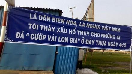 Vụ hôi bia ở Biên Hòa: Tấm băngrôn của lòng tự trọng