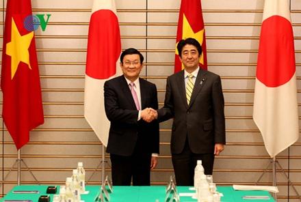 Chủ tịch nước Trương Tấn Sang và Thủ tướng Nhật Bản Shinzo Abe