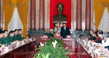 Chủ tịch nước Trương Tấn Sang phát biểu tại buổi làm việc. Ảnh: Nguyễn Khang - TTXVN