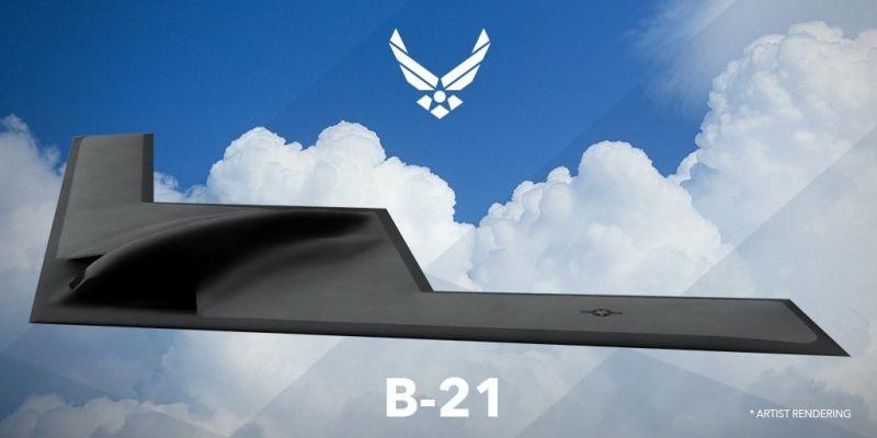 B-21 có hình dạng khá tương đồng mẫu máy bay ném bom tàng hình B-2. (Ảnh: Airforce)
