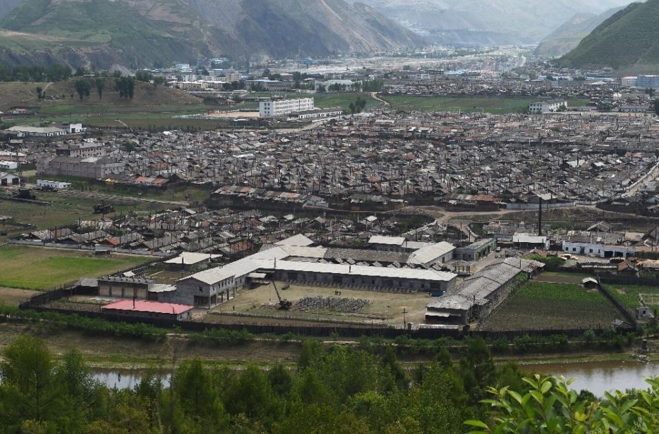 Thị trấn Musan, Triều Tiên, giáp biên giới Trung Quốc (Ảnh AFP)