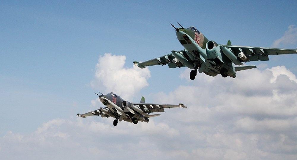 Chiến đấu cơ của Nga thực hiện không kích tại Syria (Ảnh: Sputnik)