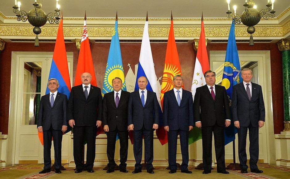 Lãnh đạo các nước thuộc Tổ chức Hiệp ước an ninh tập thể (gọi tắt CSTO) (Ảnh: en.kremlin.ru)