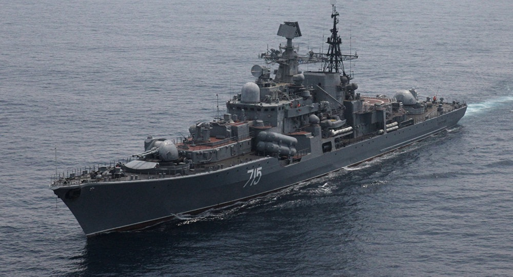 Một tàu chiến của Nga (Ảnh: Sputnik)