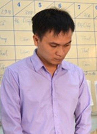 Đối tượng Trương Trần Gia Bảo bị bắt tại cơ quan điều tra.