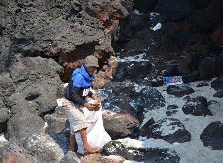 Hai ông lão nhặt rác trên đảo Bé - 3