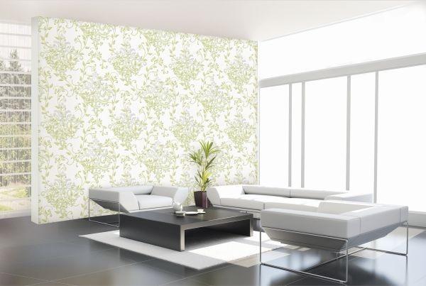 Giấy dán tường phòng khách – phong cách Tây Âu nhẹ nhàng