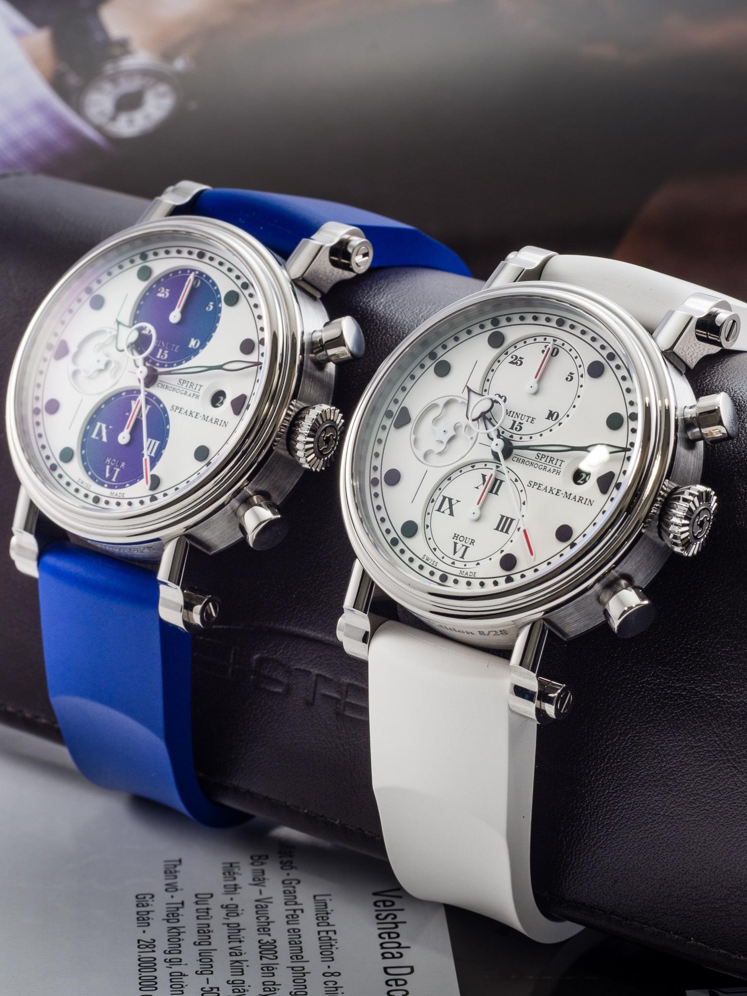 Speake-Marin Spirit Seafire được đề cử giải thưởng Grand Prix dHorlogerie de Genève (GPHG) ở hạng mục đồng hồ Chronograph tốt nhất.PVP