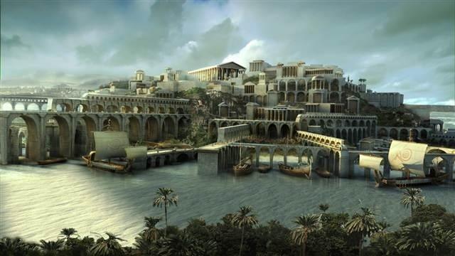 Ảnh mô phỏng thành phố đã mất Atlantis