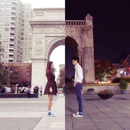 Cặp đôi Hàn Quốc tung bộ ảnh hai nửa yêu xa gây sốt - 1