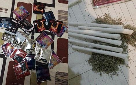 Cỏ Mỹ được đóng gói trong bao bì và cuốn vào điếu thuốc lá để sử dụng.