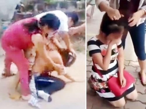Không những không níu giữ được hạnh phúc gia đình, nhiều người còn lao vào vòng lao lý vì đánh ghen(Ảnh cắt từ một số clip lan truyền trên mạng internet thời gian qua)