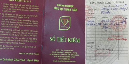 Sổ tiết kiệm do doanh nghiệp Thanh Tuấn phát hành tương đối giống sổ tiết kiệm của ngân hàng