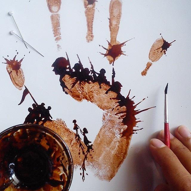 """Tài vẽ tranh tuyệt đỉnh của """"nghệ sĩ cà phê"""" - 7"""