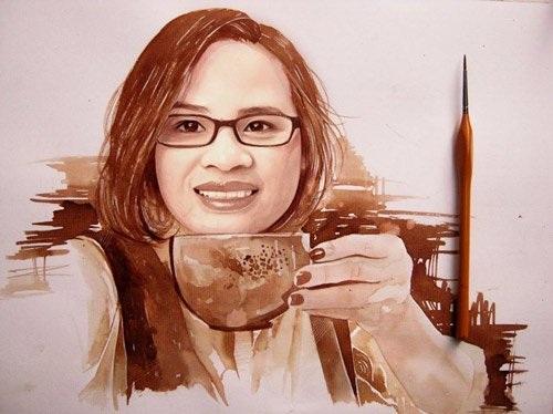 Quốc Vẹn chia sẻ, từ khi vẽ tranh truyền thần, các bạn càng cảm nhận được rõ hơn nét đẹp đặc trưng của người phụ nữ Việt