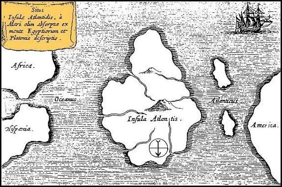 Bản đồ thành phố Atlantis của Athanasius Kircher