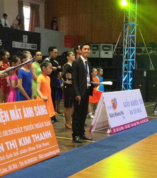 Anh Dương trong một lần dẫn đoàn đi thi đấu