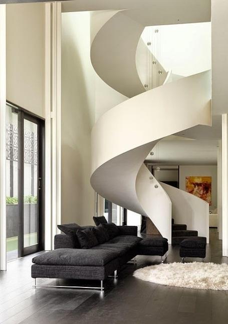 Những mẫu cầu thang xoắn ốc đẹp cho ngôi nhà có diện tích khiêm tốn - 12
